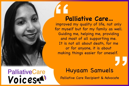 Quote from Huyaam Samuels on Palliative Care