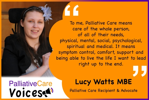 Quote from Lucy Watts MBE on Palliative Care