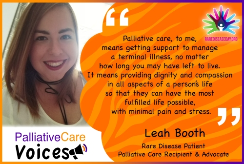 Quote from Leah Booth on Palliative Care